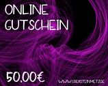 Digitaler Onlineshop-Gutschein im Wert von 50,00€