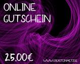 Digitaler Onlineshop-Gutschein im Wert von 25,00€