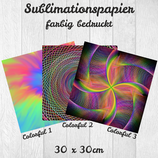 Sublimationspapier bedruckt 30x30cm 'Colorful'