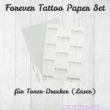 Forever Tattoo Paper Set für Tonerdrucker DIN A4