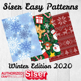 SISER EasyPatterns® Winter Design Flexfolie 50x30cm
