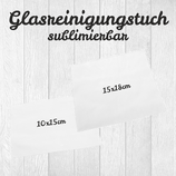 Glasreinigungstuch für Sublimation