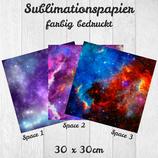 Sublimationspapier bedruckt 30x30cm 'Space'