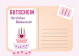 Gutschein Geburtstagskarte