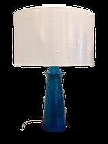 Lampe en céramique bleue
