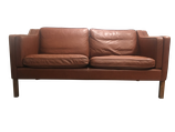 Canapé en cuir fauve