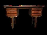 Bureau en teck 6 tiroirs