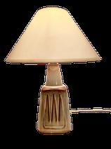 Lampe en céramique beige