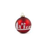 Weihnachtskugel L'Alpage rot