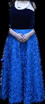青いフラダンス衣装