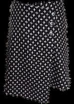 ラップスカート 黒×白