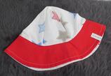 Hut Gr. 51-53, rot-weiß, Sterne