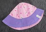 Hut Gr. 47-49, rosa-lila Schmetterlinge