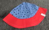 Hut Gr. 53-55, blau-rot-Punkte