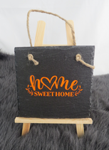 "Schiefer ""Home sweet home"" orange"