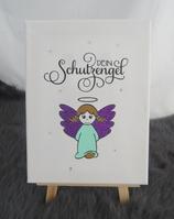 Engel Mädchen mint lila