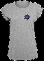 Damen Jungfrau Shirt Grau