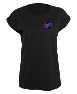 Damen Steinbock Shirt Schwarz