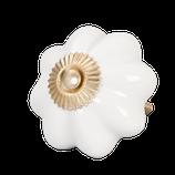"""Möbelknopf // """"Blume"""" in weiß"""