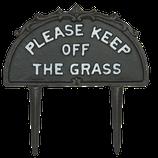 Gartenstecker von Clayre & Eef // Keep off the grass