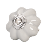 """Möbelknopf // """"Blume"""" in grau"""