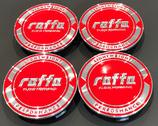 4 STÜCK ALUMINIUM NABENDECKEL ROT | PASSEND FÜR FOLGENDE RAFFA FELGEN: RF-01 | RF-02 | RF-03 | RF-04 |  100,00 EURO PRO SET