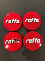 4 STÜCK NABENDECKEL ROT | PASSEND FÜR FOLGENDE RAFFA FELGEN: RS-01 | RS-03 | RS-04 | 50,00 EURO PRO SET