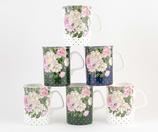 Heritage Flower & Polka Dot Set of 6 Mugs