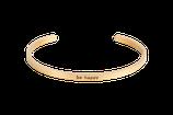 Armcandy Armspange mit Spruch Statement Armreifen Goldfarben