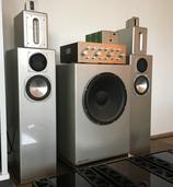 Outsider / Omtec Lautsprecher inkl. aktiver Frequenzweiche und Aktiv - Subwoofer