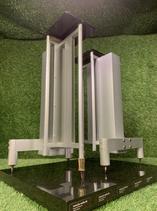 Design Lautsprecherständer aus Holz / Metall