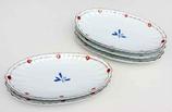 渕錦木の実 菊型長皿揃