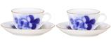 ブルーローズ ティー・コーヒー碗皿ペアセット