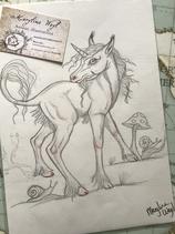 "Dessin original ""licorne : pied de lutin"""