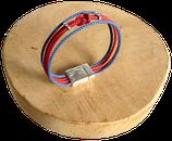 Bracelet marin bi-color bleu marine/rouge