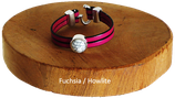 Syracuse Fuchsia / Howlite