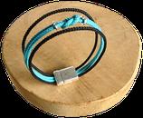 Bracelet marin bi-color noir/turquoise
