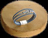 Bracelet marin bi-color bleu marine/gris