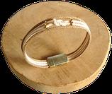 Bracelet marin bi-color havane/écru