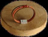 Bracelet marin bi-color brun/orange