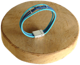 Bracelet marin bi-color turquoise/marine