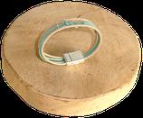 Bracelet marin bi-color havane/vert d'eau