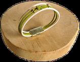 Bracelet marin bi-color écru/olive