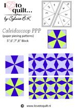 Caleidoscoop quilt block PPP- papieren versie