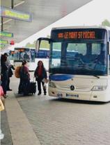 レンヌ駅から公共バス利用!