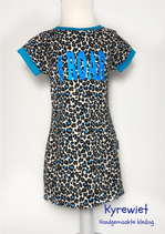 Skinny Lily / Cheeta licht blauw 104-110