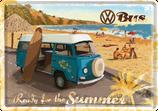 VW Bulli blau Strand