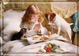 Weihnachten Mädchen mit Hund