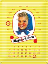 Rotbäckchen Kalender