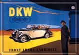 DKW Auto blau gelb